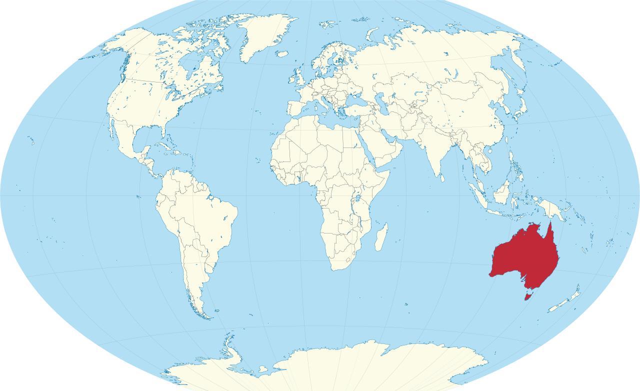 Australia Mape Sveta Australia Na Mape Sveta Australia A Novy